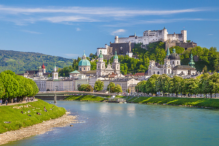 A panoramic photo of Salzburg, Austria