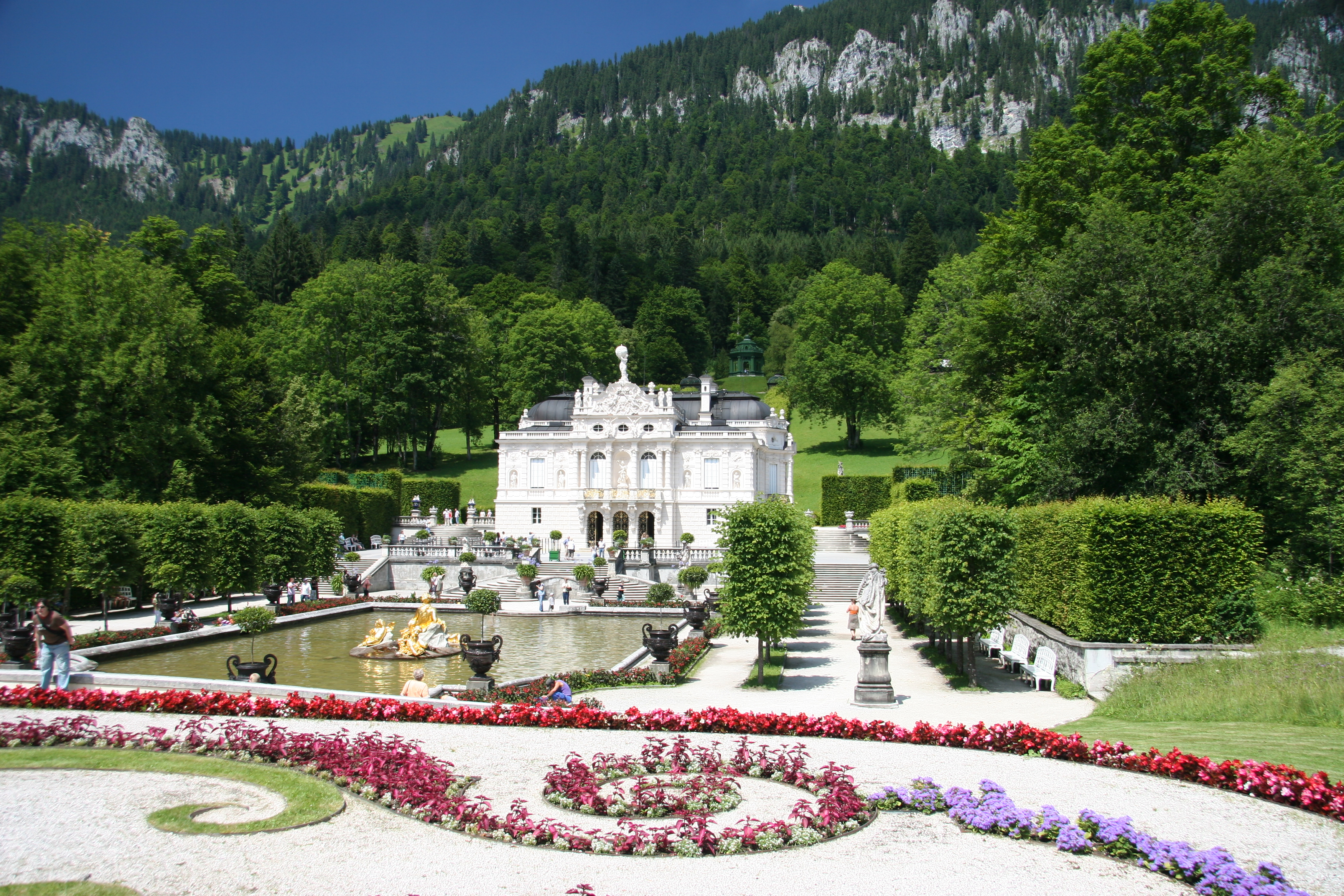 Linderhof Palace and Oberammergau